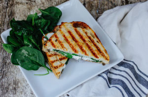 Cripsy panini and side salad