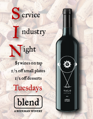Blend Happy Hour Tuesdays in Bozeman all night