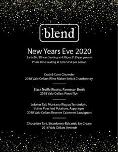 New Year's Eve Dinner & Wine Pairing