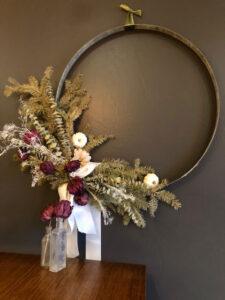 DIY Wine Barrel Hoop Wreath Event December 8th and 22nd